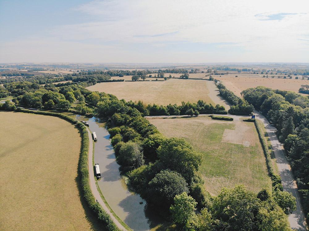 Foxton Locks from above