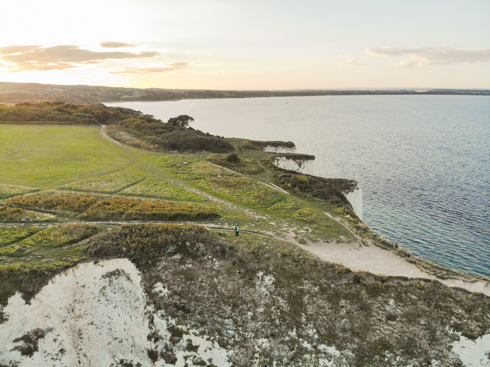 Old Harry Rocks Drone