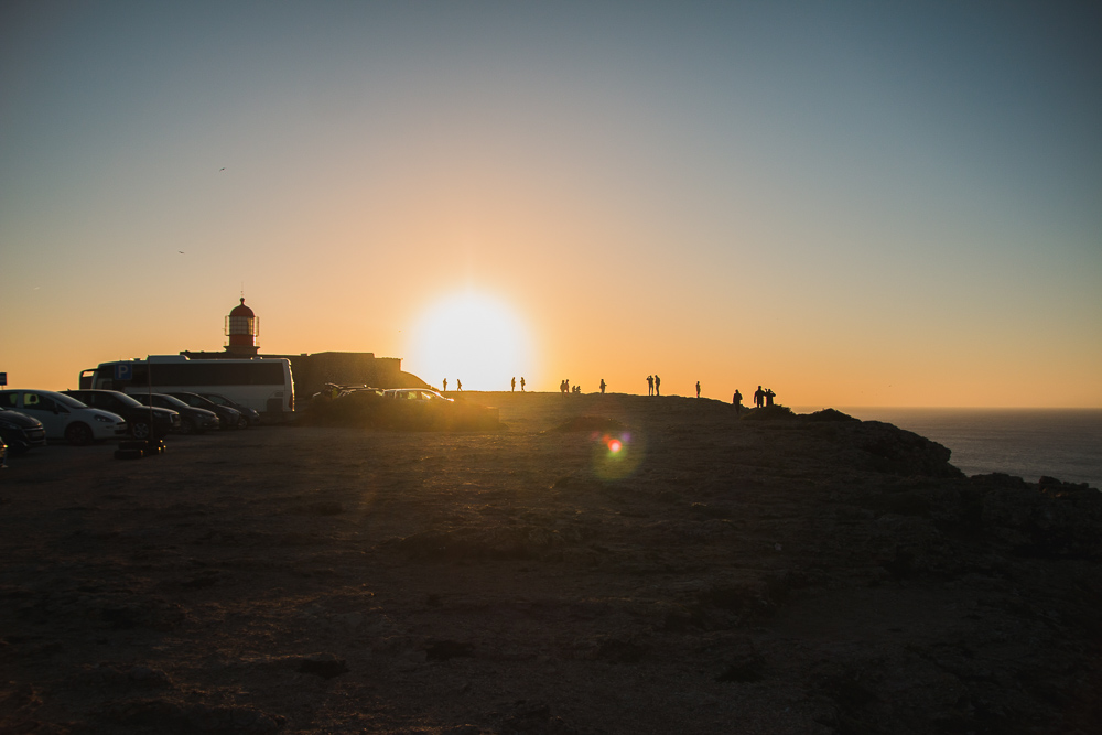 Cape St Vincent Lighthouse at Sunset