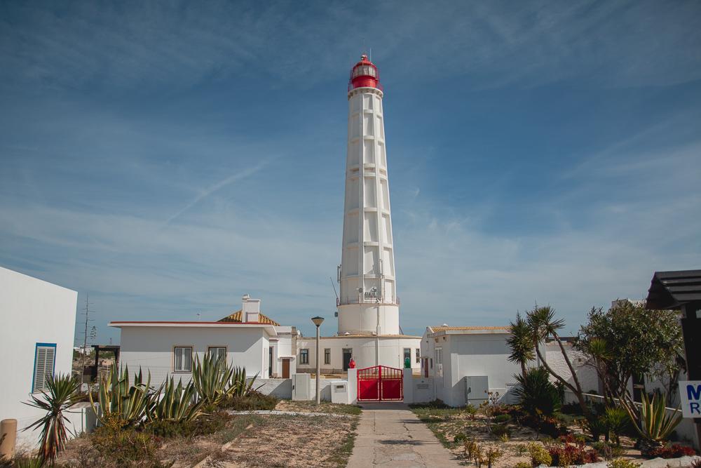 Cabo de Santa Maria Lighthouse in Culatra Island, The Algarve