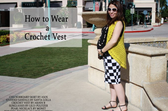 How to Wear Crochet Vest