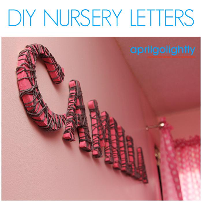 diy nursery letters april golightly