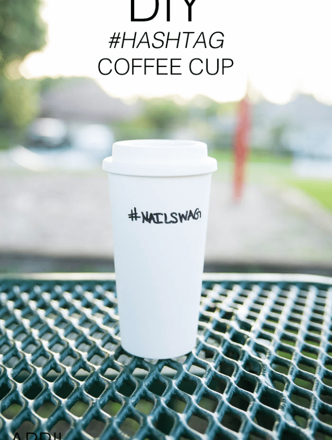 DIY Hashtag Coffee Cup with Paperless Coupons
