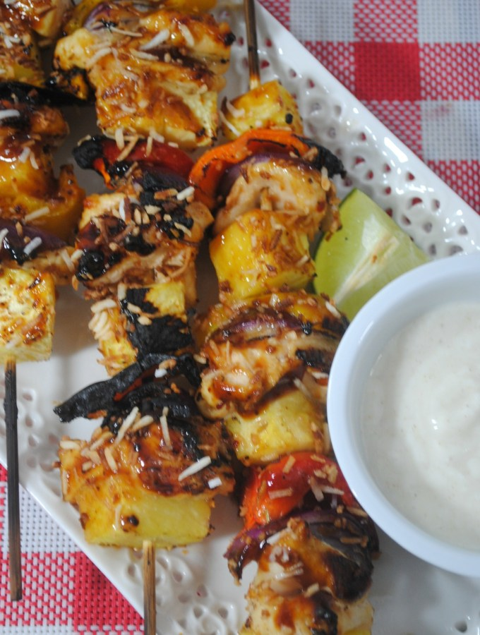 Grilled Pineapple Chicken Kabobs Recipe