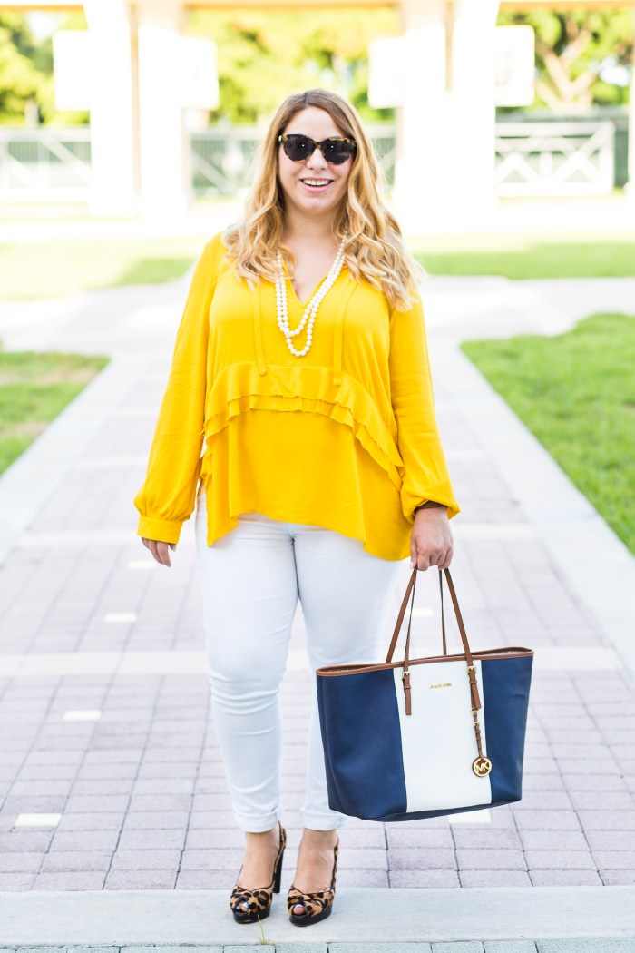 How to wear yellow in fall