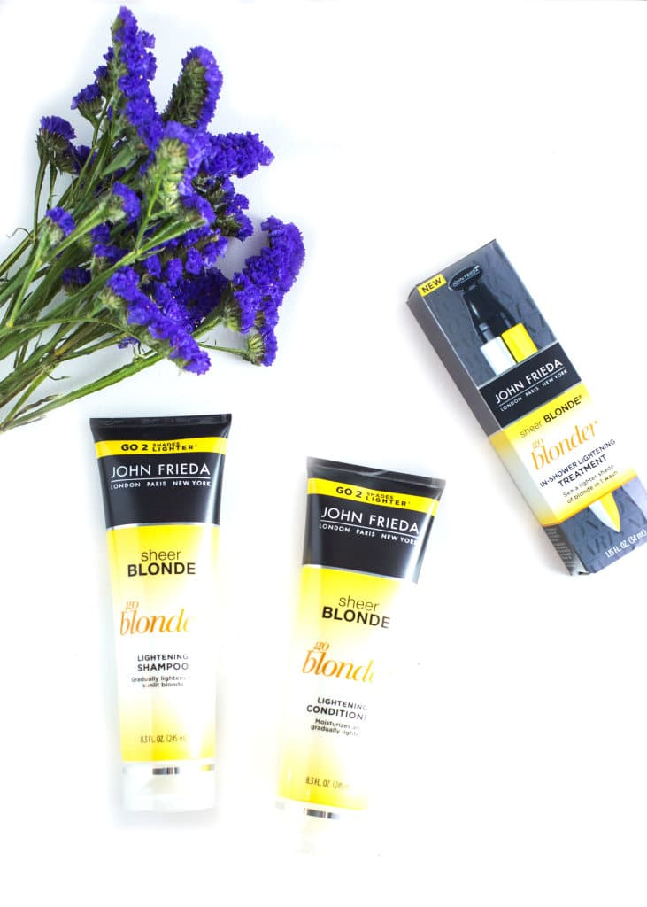 Sheer Blonde® Go Blonder Lightening Treatment and Shampoo and Conditioner