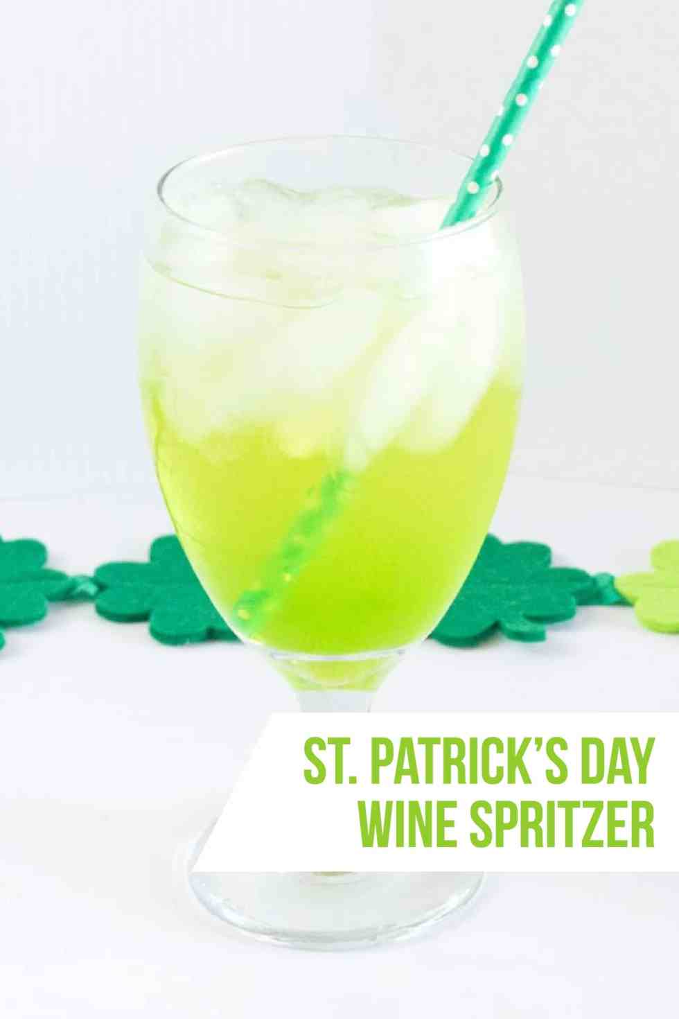 Lucky St. Patrick's Day Wine Spritzer Drink Recipe