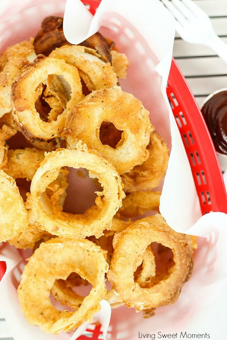 Easy to make in the deep fryer at home onion rings recipe