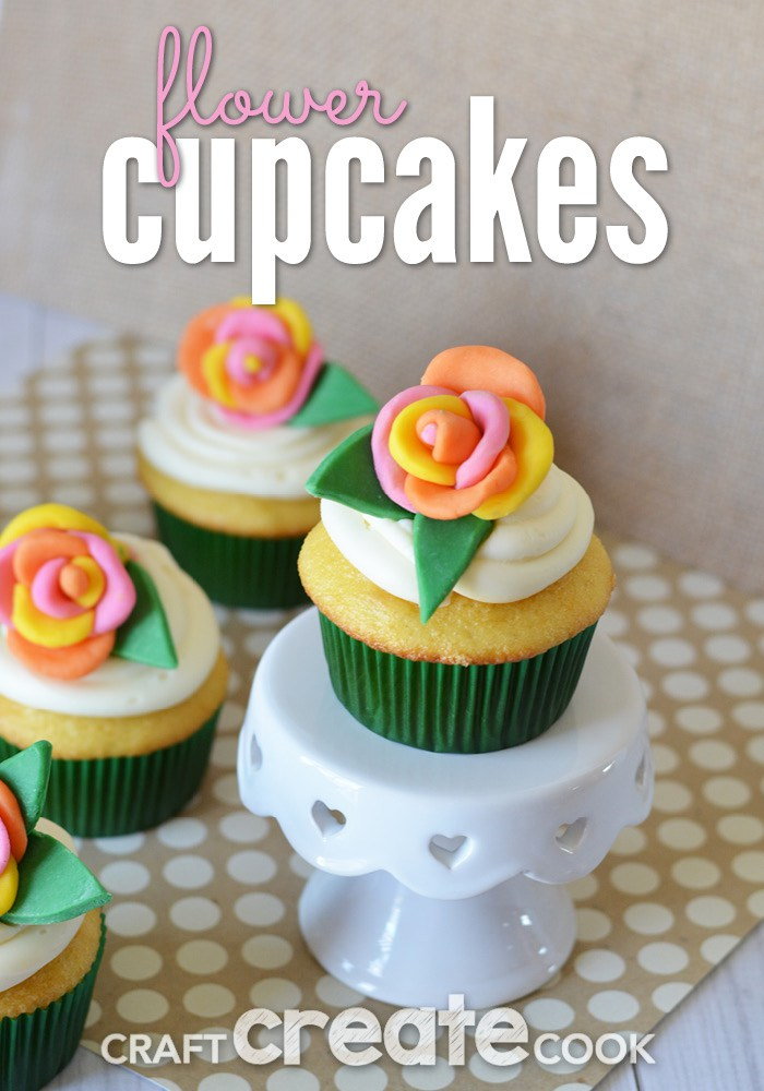 Easy to make roses flower cupcakes recipe