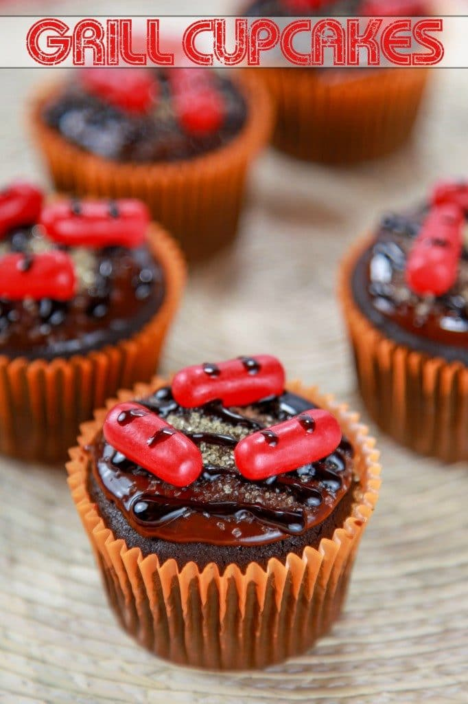 Grill Party Candy Cupcakes Recipe