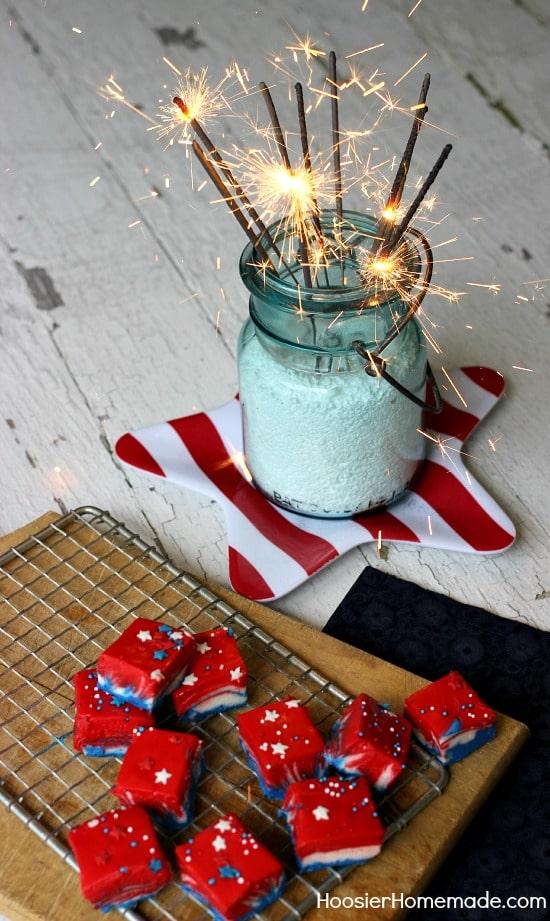 Patriotic Fudge from Hoosier Homemade