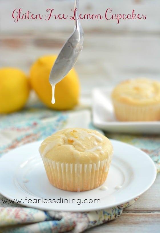 Easy Lemon Cupcake Recipe made gluten free
