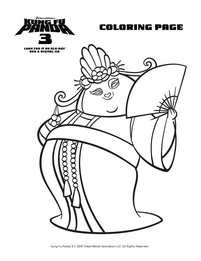 Kung Fu Panda 3 Coloring Sheets Free Printables Mei