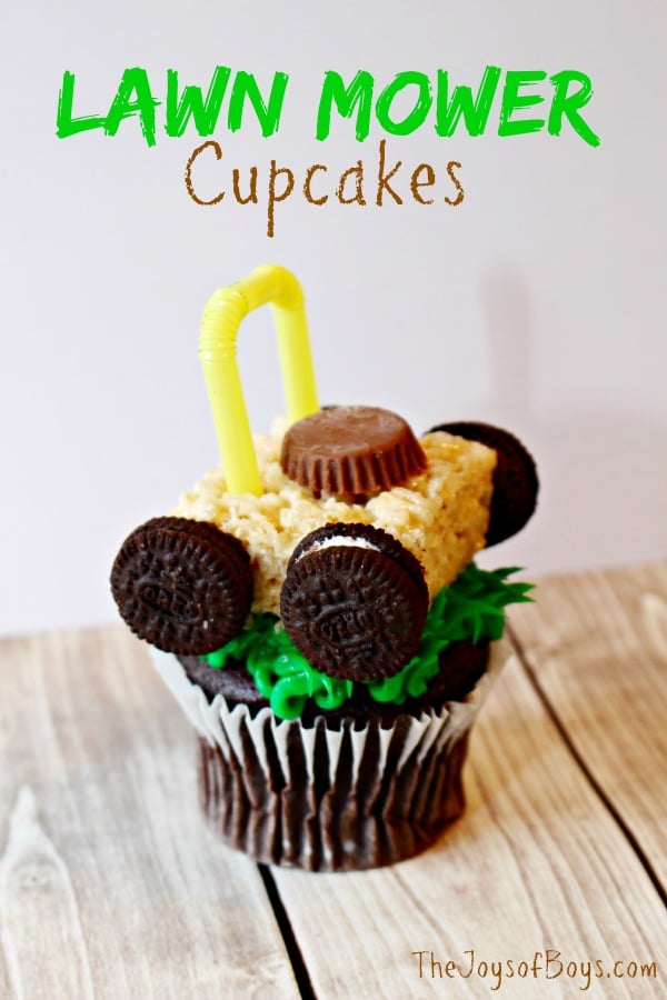 Lawn Mower Cupcakes Recipe for spring party