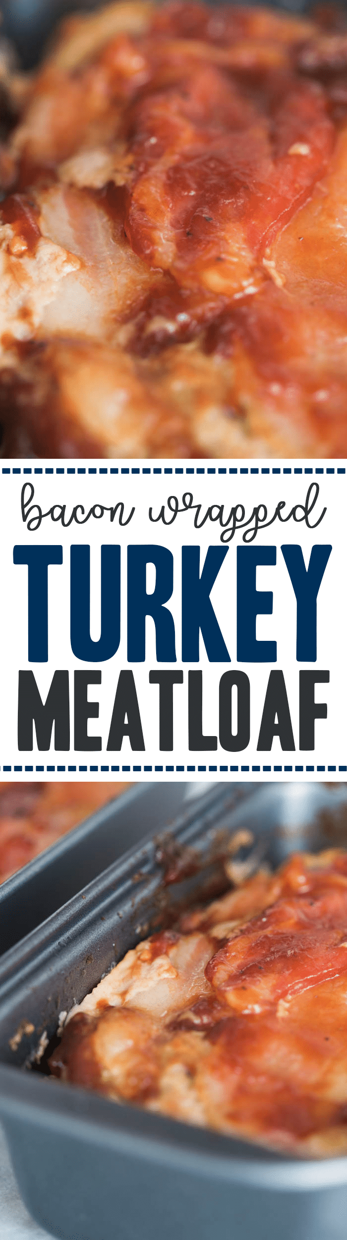 Easy Bacon Wrapped Turkey Meatloaf made like muffins in mini pans – extremely moist perfect personal sized portions to be healthy