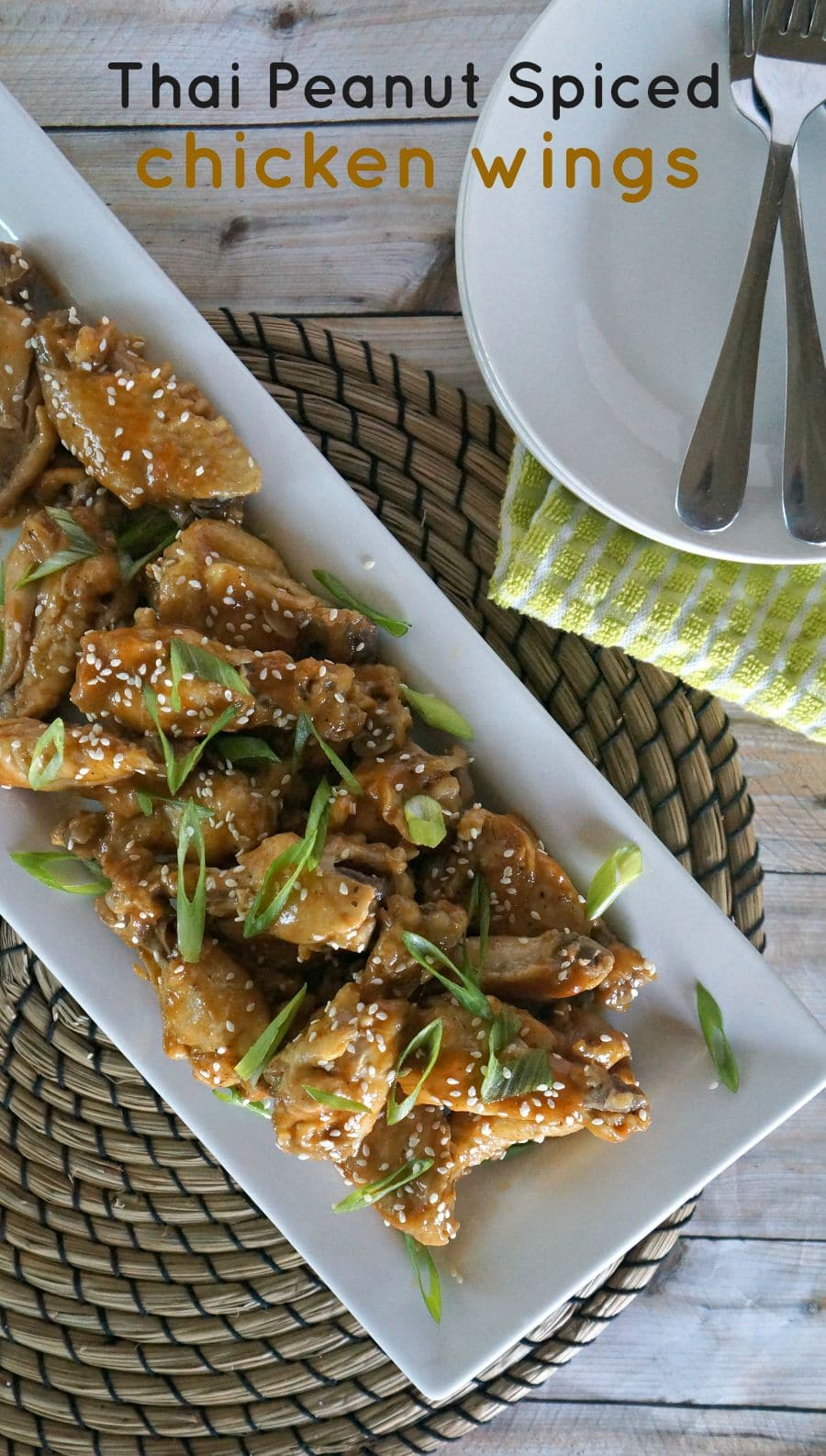 Thai Peanut Spiced Chicken Wings in the Slow Cooker
