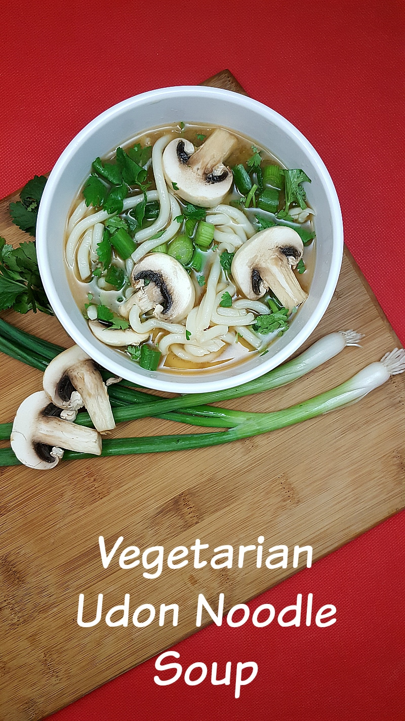 Vegetarian Udon Noodle Soup Recipe
