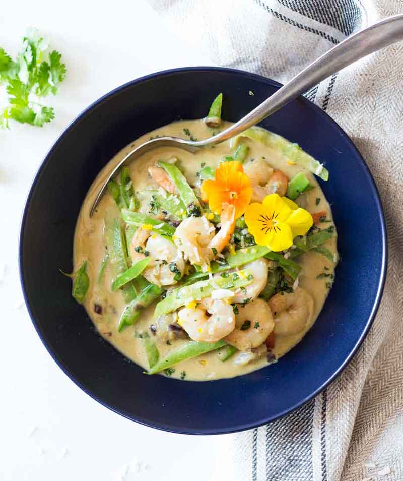 Easy Thai Green Curry with Shrimp Asian Recipe