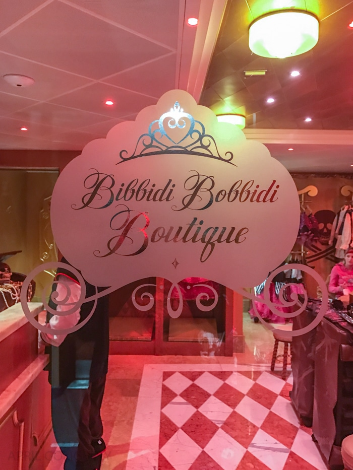 Bibbidi Bobbidi Boutique Pirate Night on Disney Cruise