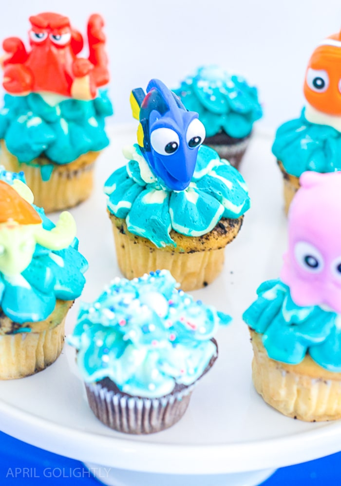 Finding Dory and Nemo Birthday Cupcakes (1 of 1)