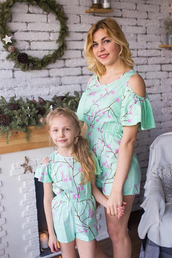 Mom and Daughter rompers for spring