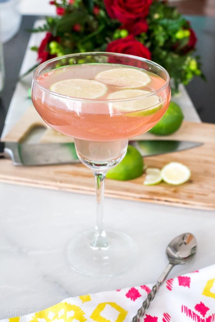 Cinco de Mayo refreshing Pomegranate Margarita White Wine Spritzer Cocktail Recipe