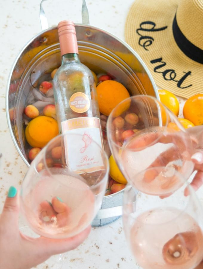 Watermelon Rosé Wine Slushie