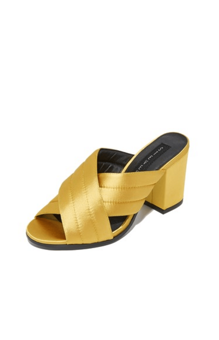 yellow silk shoes