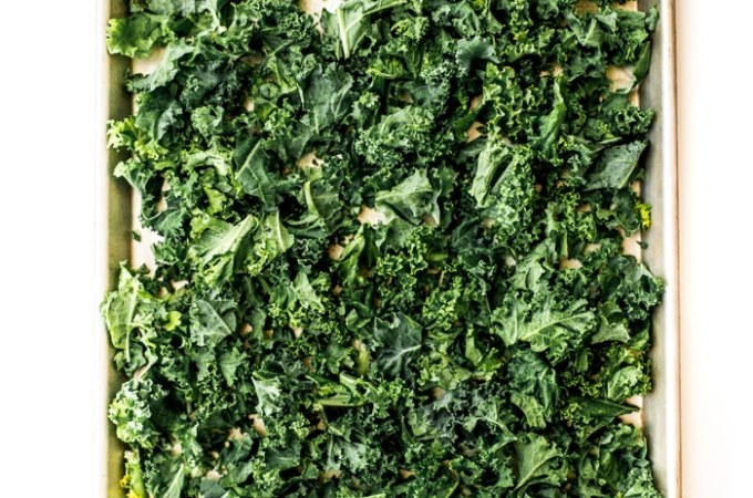 Cheesy Kale Chips Recipe with  Stella® Grated Parmesan