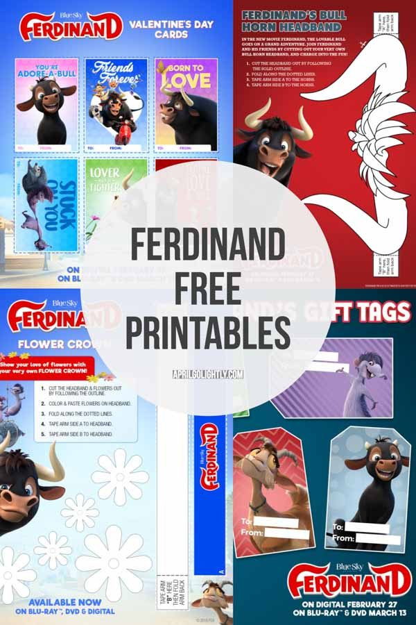 Ferdinand Free Printables and activity sheets (1 of 1)