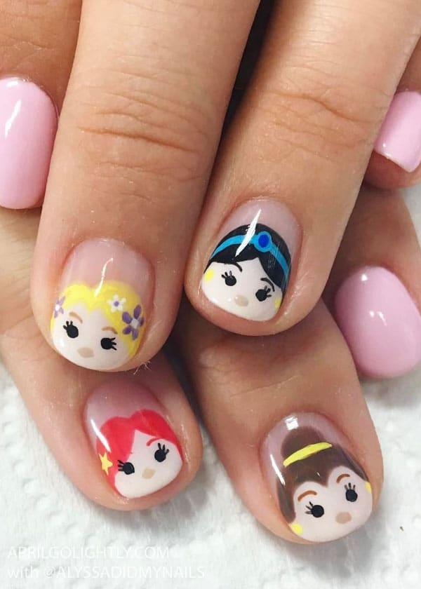 Disney Princess Tsum Tsum Nail art