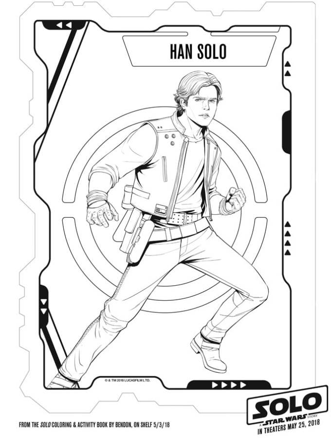 SOLO: A Star Wars Story – Coloring Sheets Free Printables