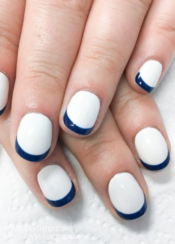 Nautical Nail Art - french Manicure