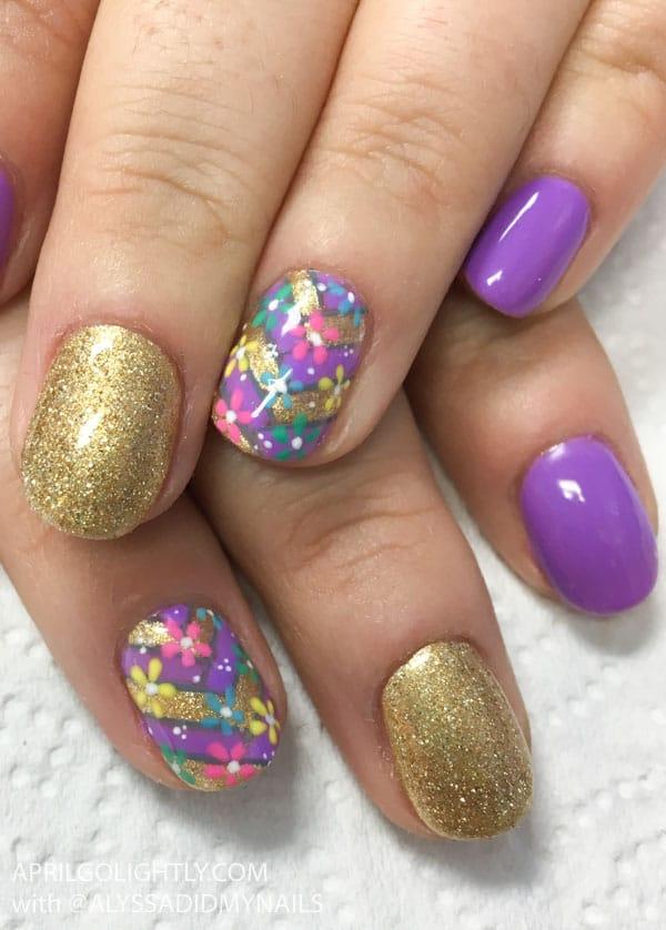 Rapunzel Tangled Nail Art
