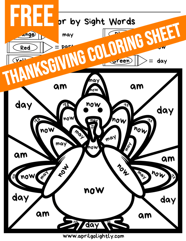 Thanksgiving Coloring Pages Free Printables April Golightly