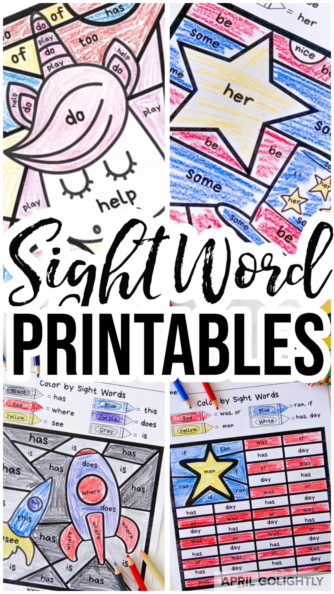 Sight Word Worksheets Free Printables