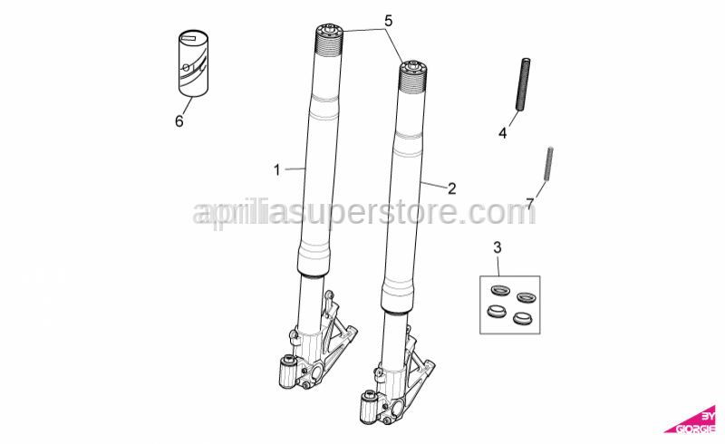 RSV4 Factory Ohlins Fork (left), needs 858802
