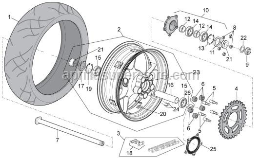 Wheel speed sensor, left front ABS
