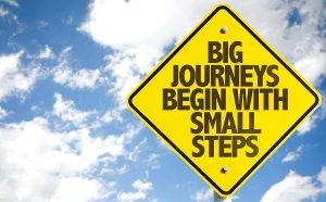 Small steps help us focus