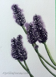 Live deliberately - Lavender Painting