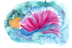"Sydnie, watercolour, 16x12"""