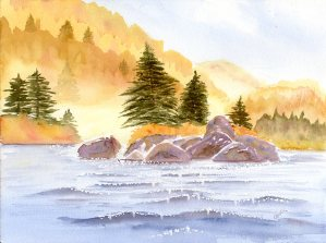 "Autumn Memories, watercolour, 9x12"""