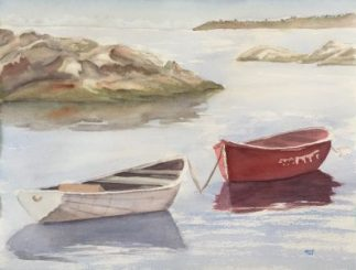 Watercolour Workshop., Boats in Harbour