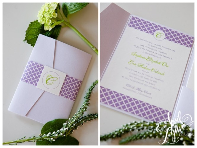 Colorful Patterned Letterpress Wedding Invitations By Gus And Ruby