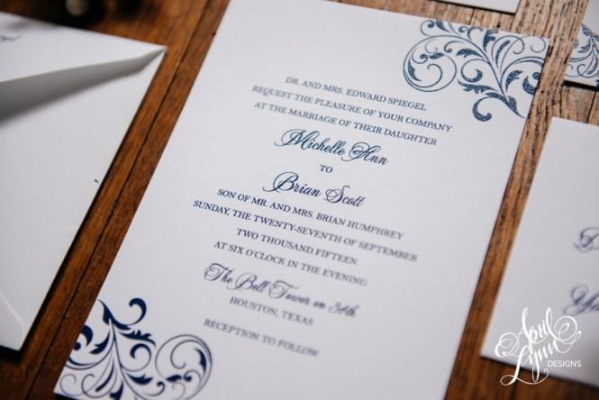 Ashley Jon Wedding Invitation Letterpress