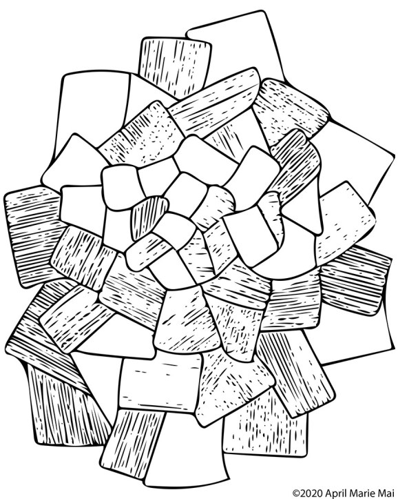 Crystalline Coloring Page