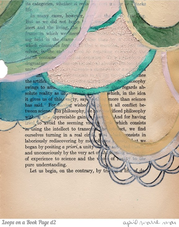Loops on a Book Page Detail 2 Print