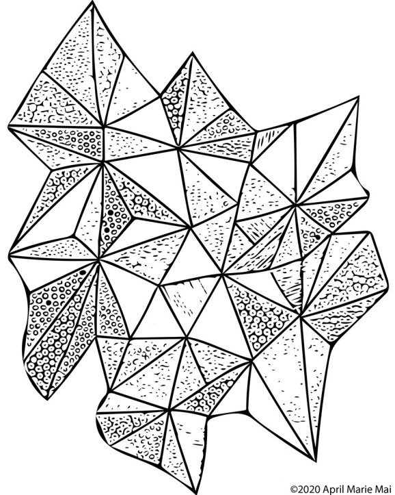 Triangles Botanica Coloring Page