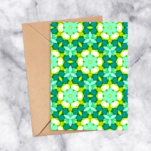 Printable Greeting Card Kaleidoscope 2194