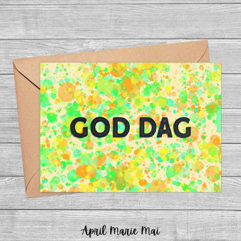 God Dag: Hello in Swedish Printable Greeting Card